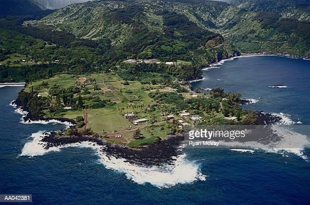 Aerial View of Hana Coastline
