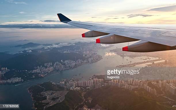 Aerial view of Hong Kong and Kowloon