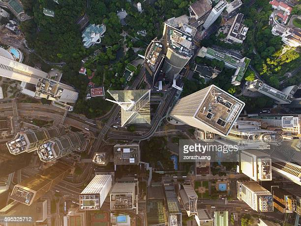 Aerial view of Hong Kong Downtown District