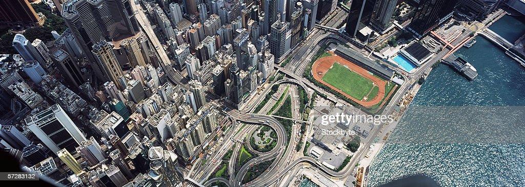 Aerial view of Hong Kong : Stock Photo