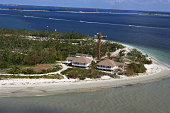 Aerial view of houses, Florida Gulf Coast