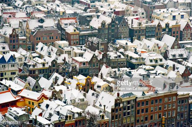 Aerial View Of Houses In Town