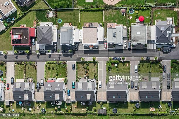 Aerial view of housing development