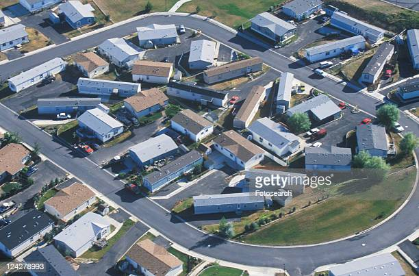 Aerial view of housing development, Pullman, WA