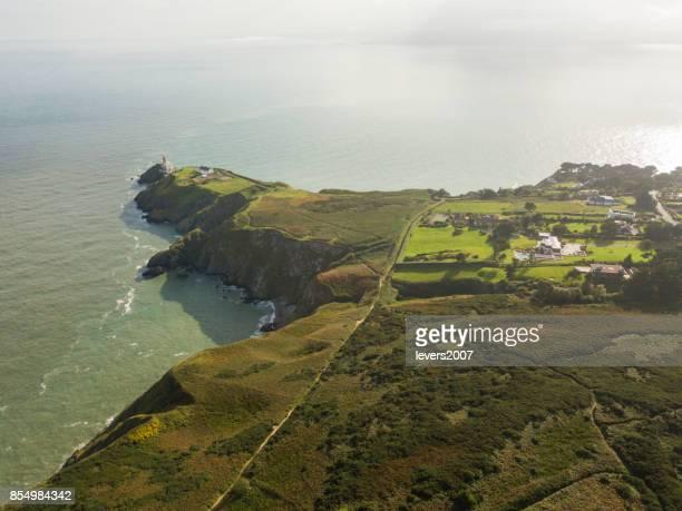 Aerial view of Howth Head, Dublin, Ireland.
