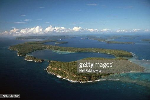 Aerial View of Hunga Bay and the Vavau Islands