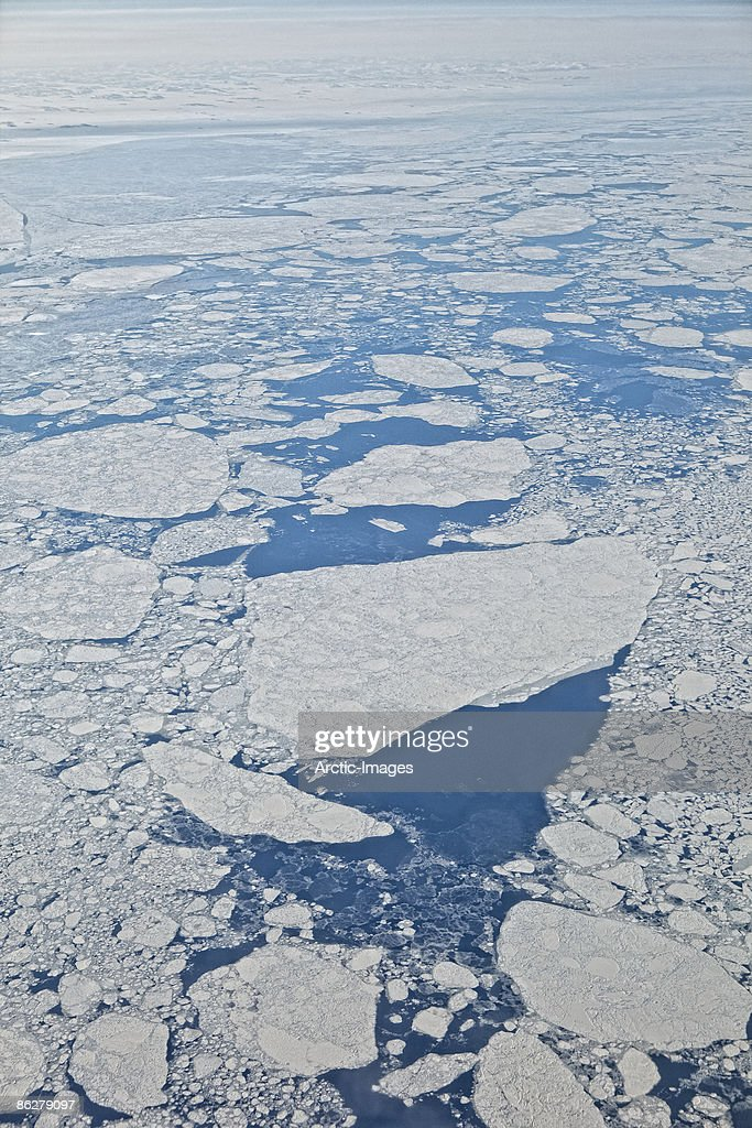 Aerial view of Icebergs, Greenland : Stock Photo