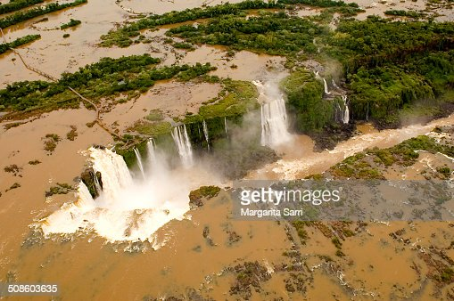 aerial view of Iguazu falls : Foto de stock