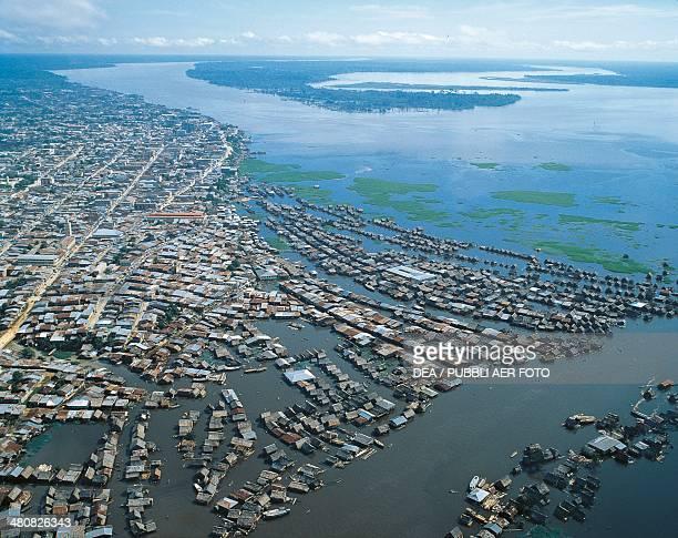 Aerial view of Iquitos on the Amazon River Loreto Region Peru