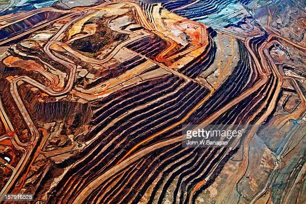 Aerial view of iron ore mine, Australia