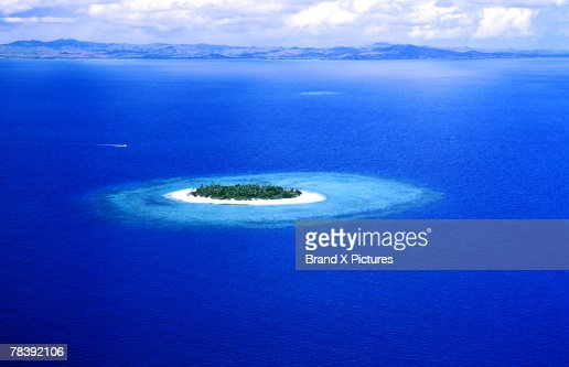 Aerial view of island : Stock Photo