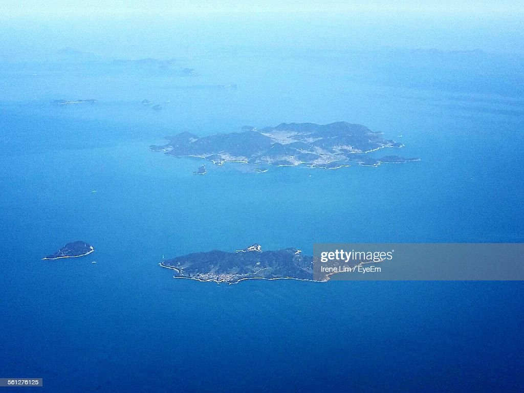 Aerial View Of Islands In Sea