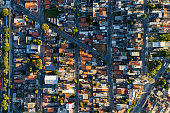 Aerial View of Itaquera District in Sao Paulo, Brazil