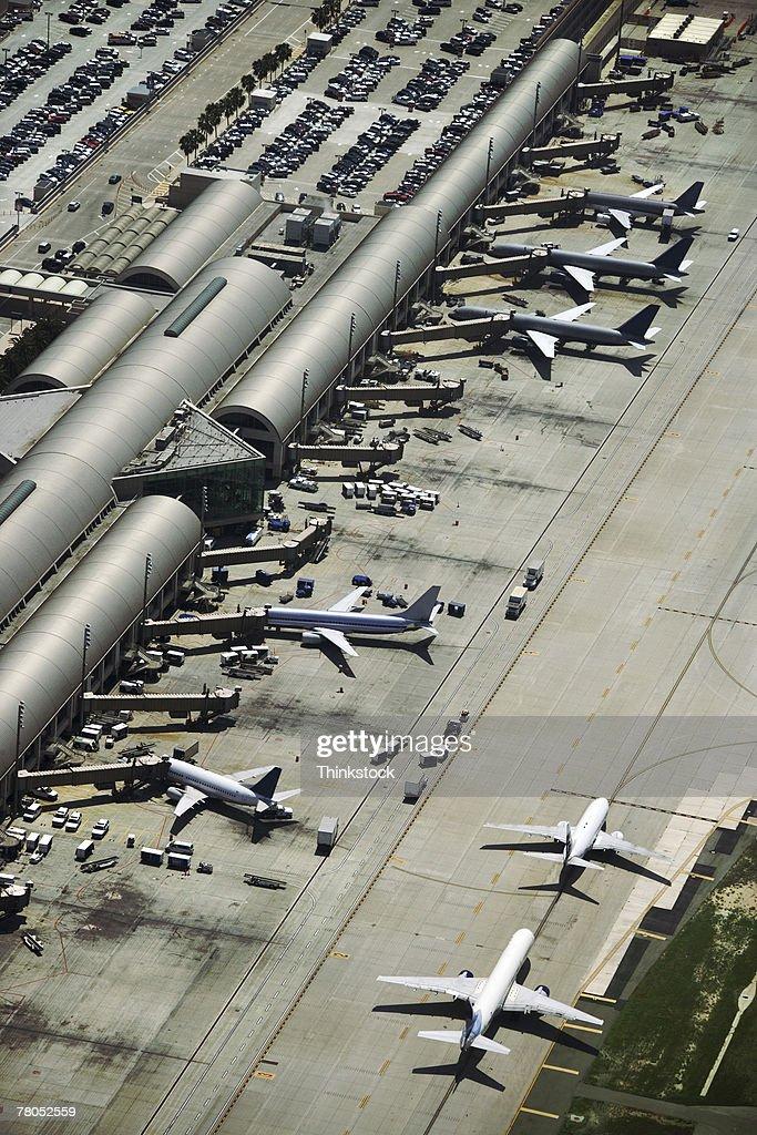 Aerial view of John Wayne Airport, Irvine, California