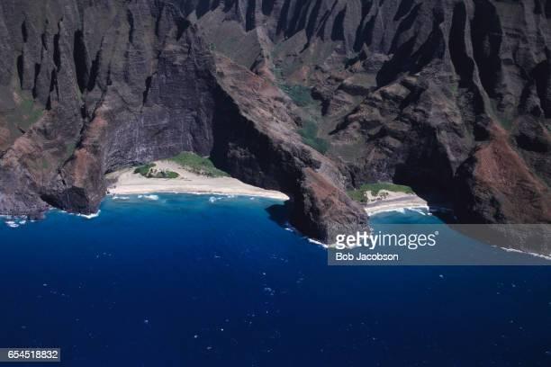 Aerial View of Kauai Coastline