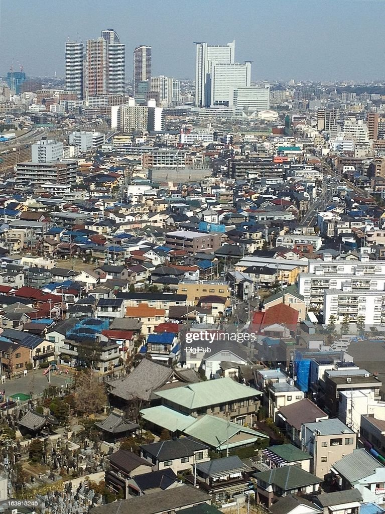 Aerial view of Kawasaki : Stock Photo