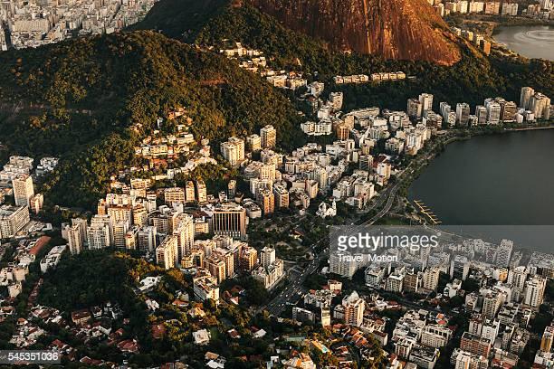 Aerial view of Lagoa skyscrapers, Rio de Janeiro