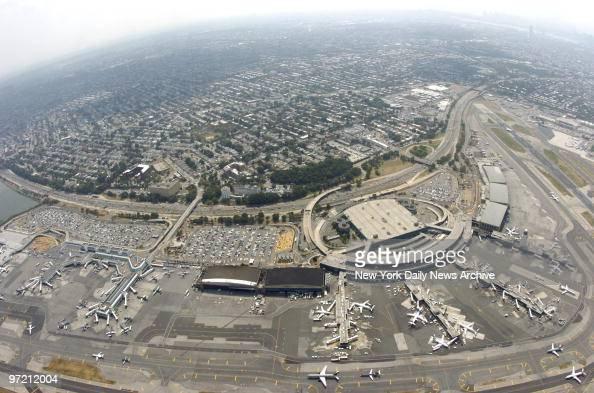 Aerial view of LaGuardia Airport in Queens