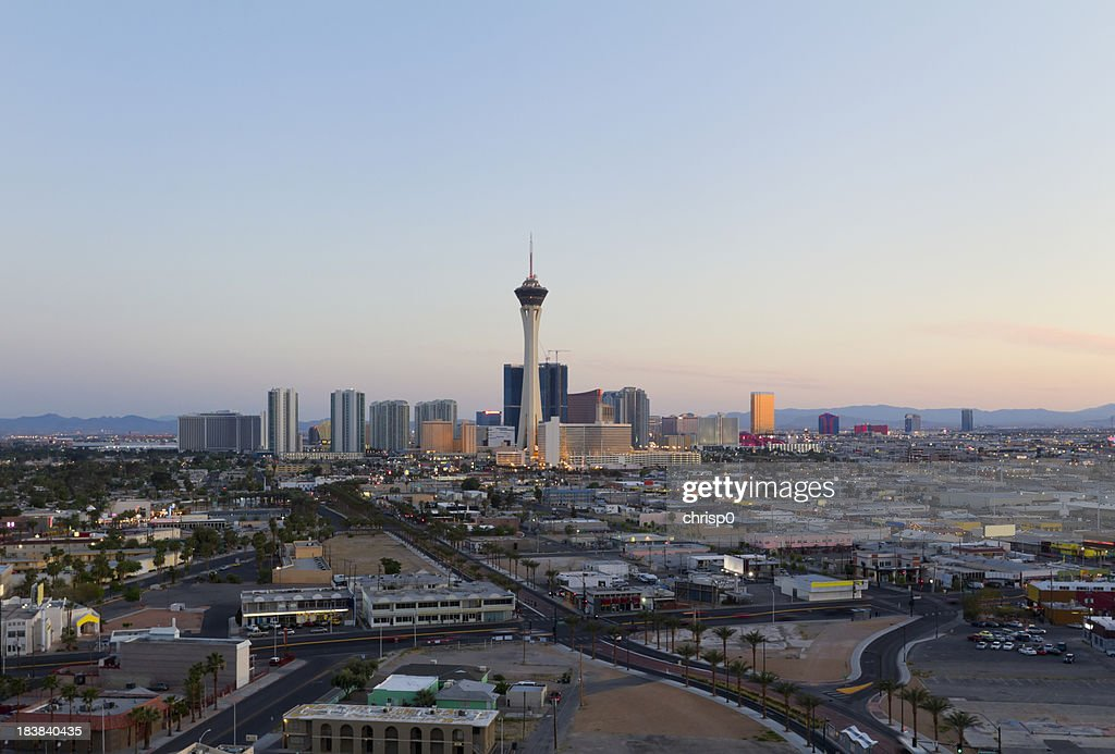 Aerial View of Las Vegas at Sunset : Stock Photo