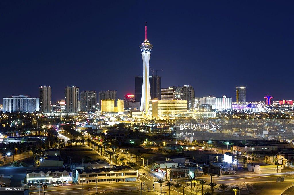 Aerial View of Las Vegas at Twilight : Stock Photo