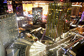Aerial view of Las Vegas Strip and City Center