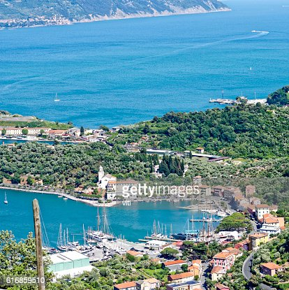 aerial view of le grazie : Stock Photo
