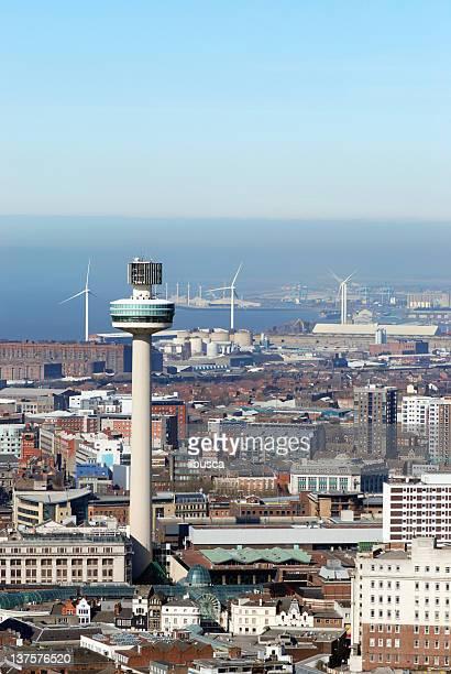 Luftbild von Liverpool