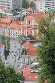 Aerial view of Ljubljana the capital of Slovenia
