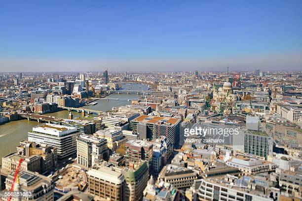 Aerial view of London at sunny day
