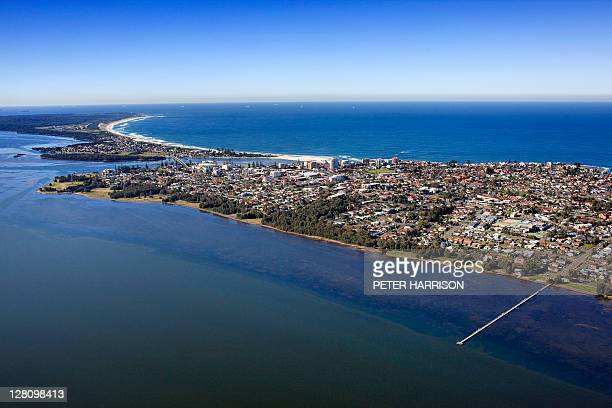 Aerial view of Long Jetty, Central Coast, NSW, Australia