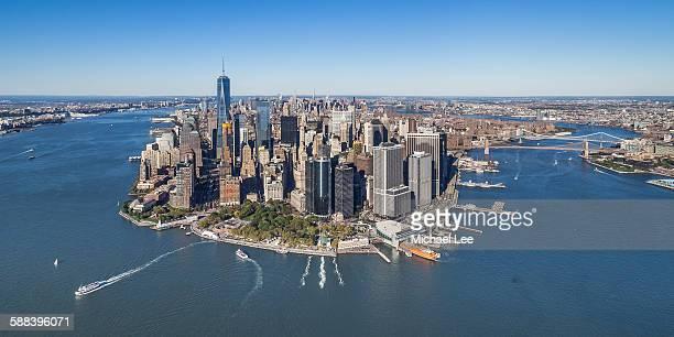 Aerial View of Lower Manhattan - New York