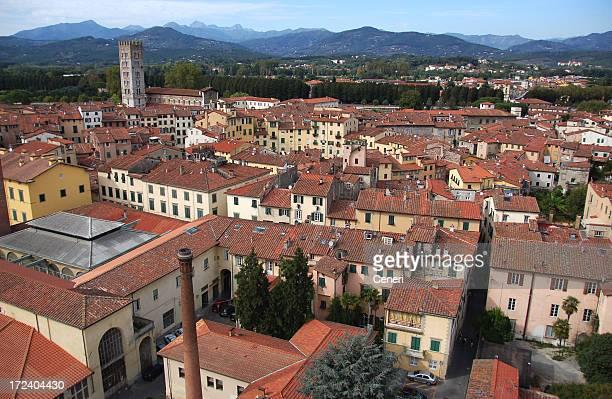Luftbild von Lucca die Stadt (Italien)