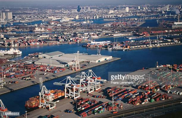 Aerial view of Maasvlakte harbour.