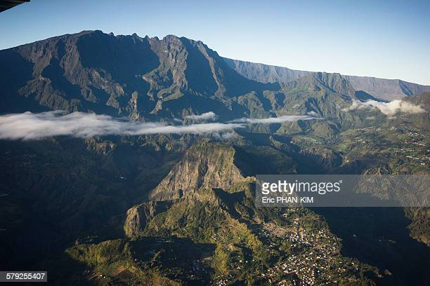 Aerial view of Mafate, Reunion Island, France