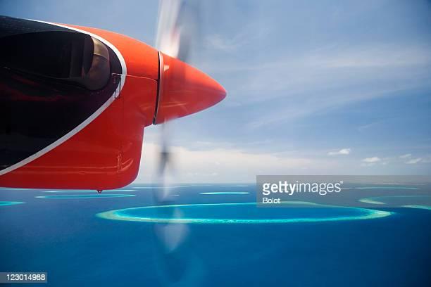Luftbild von maledivische Inseln