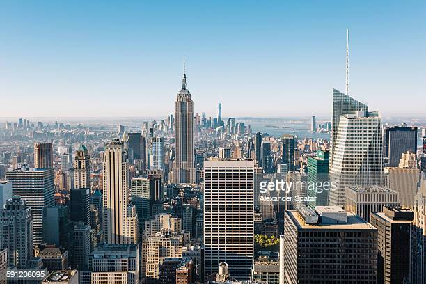 Aerial view of Manhattan in the morning, New York