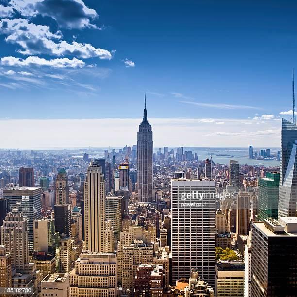 空から見たマンハッタン、ニューヨーク市