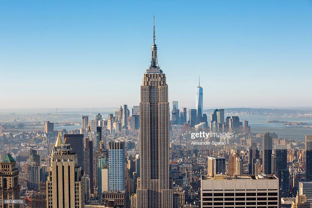 Aerial view of Manhattan, New York City, USA