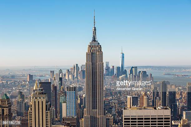 Aerial view of Manhattan, New York City, USA