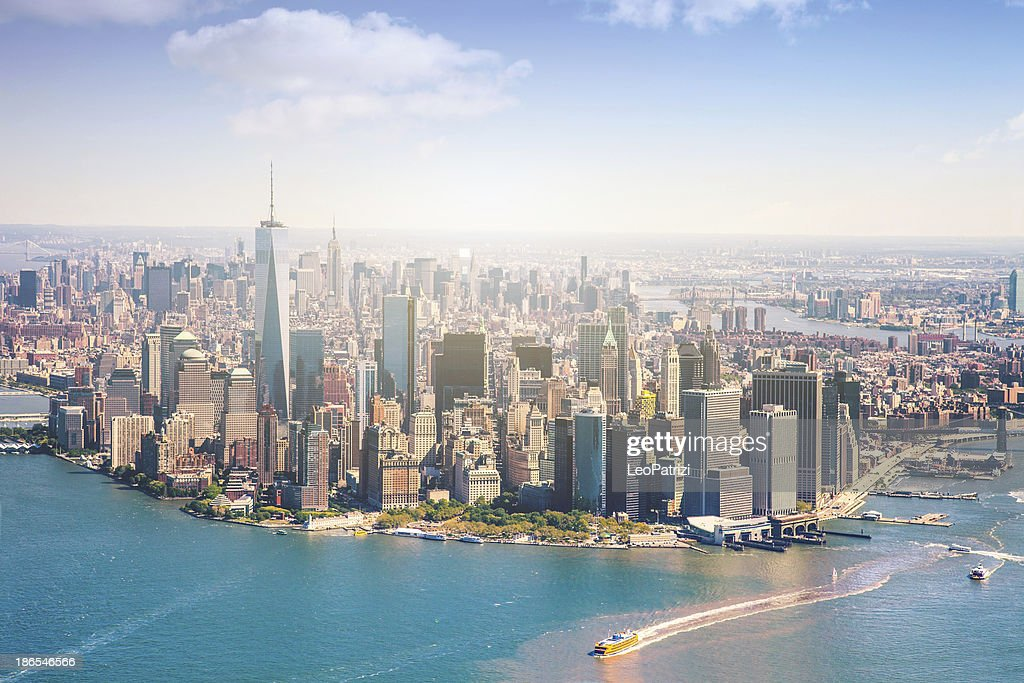 Aerial view of Manhattan - New York