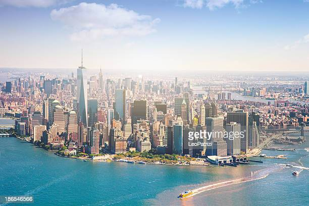 Aerial view of Manhattan - New York