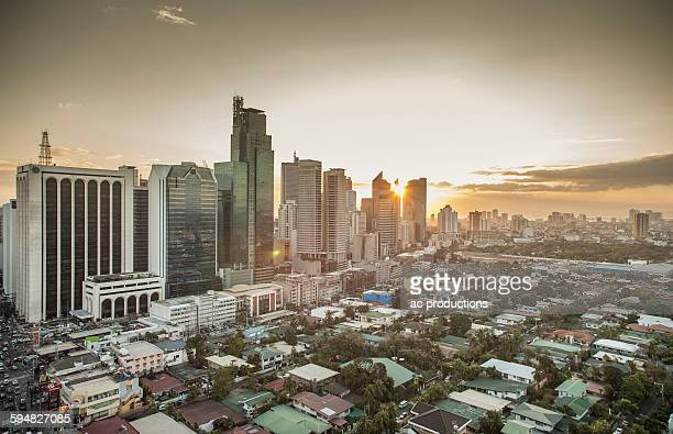 Aerial view of Manila cityscape, Manila, Philippines