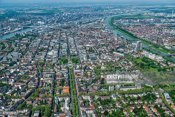 aerial view of Mannheim