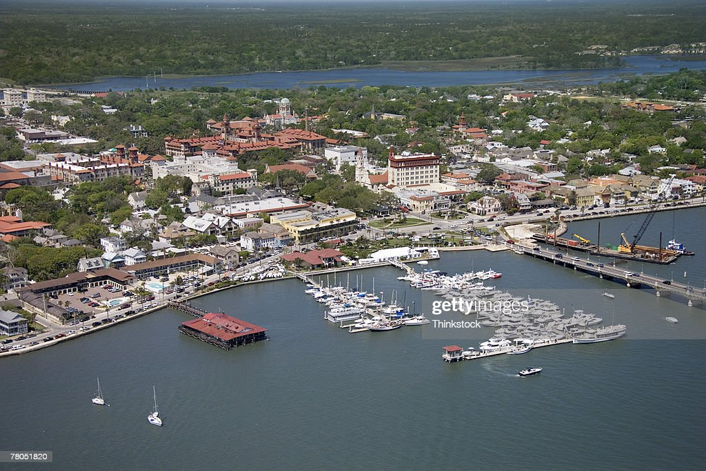 Aerial view of Mantanzas River, St Augustine, Florida