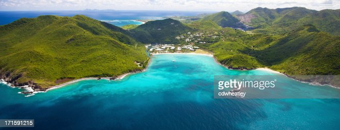aerial view of marina and resort in St.Martin