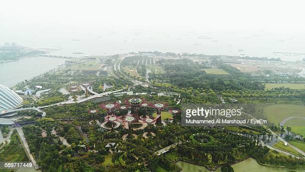 Aerial View Of Marina Bay Sands