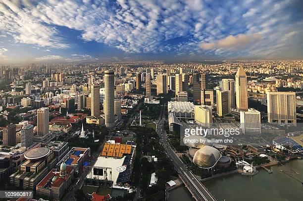 Aerial View of Marina Bay Singapore
