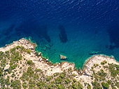 Aerial view of mediterranean cliffs