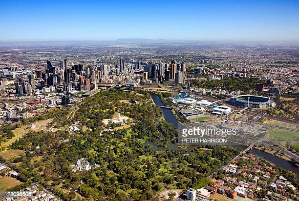 Aerial view of Melbourne, Melbourne, VIC, Australia