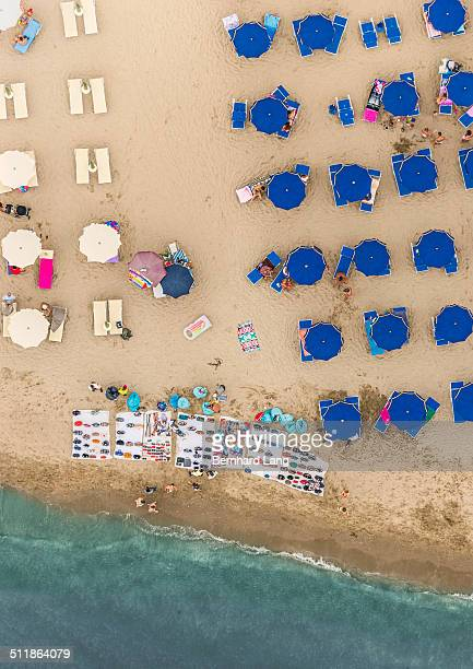 Aerial View of merchants at a beach